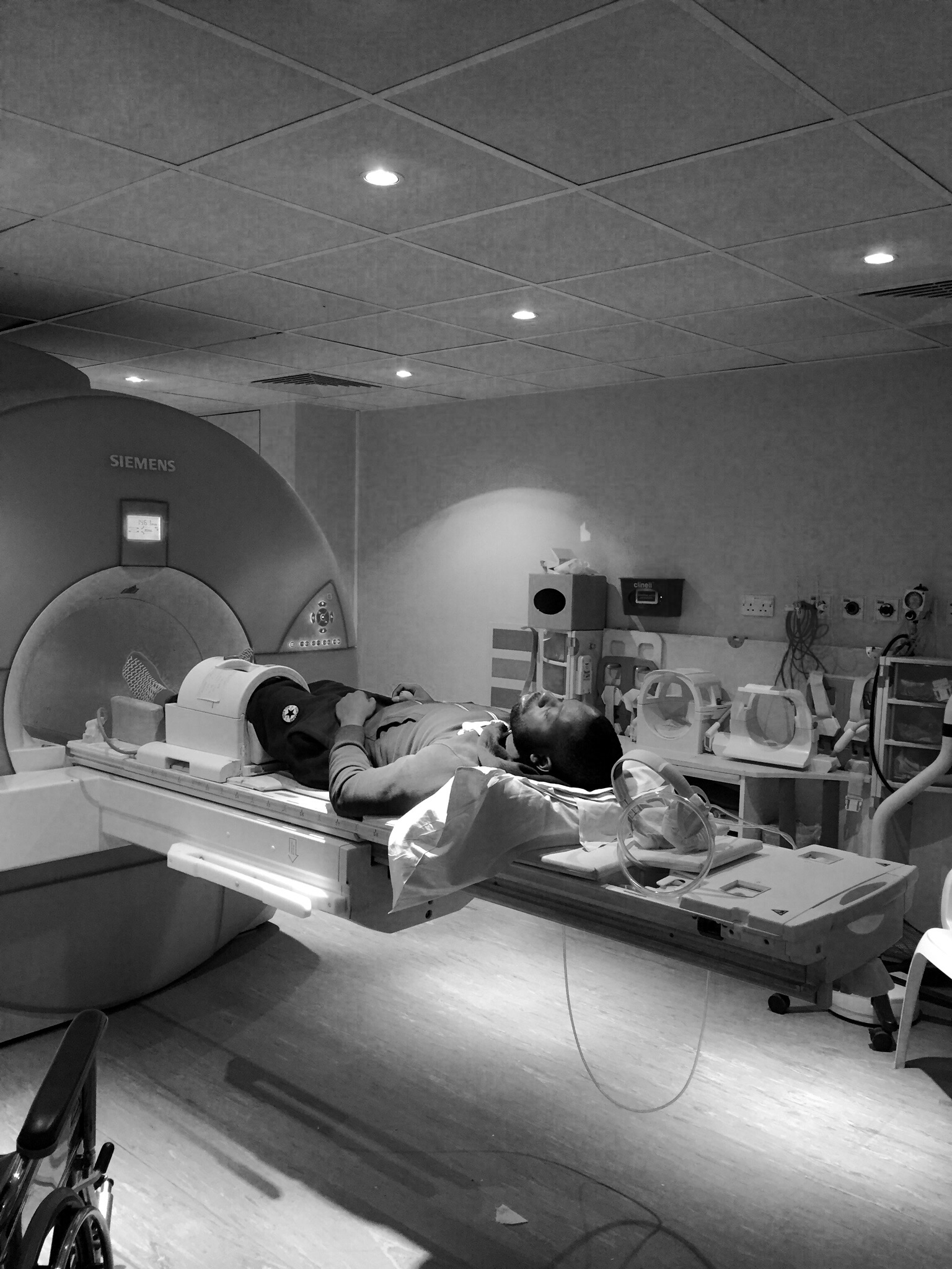 Results of the first MRI scan